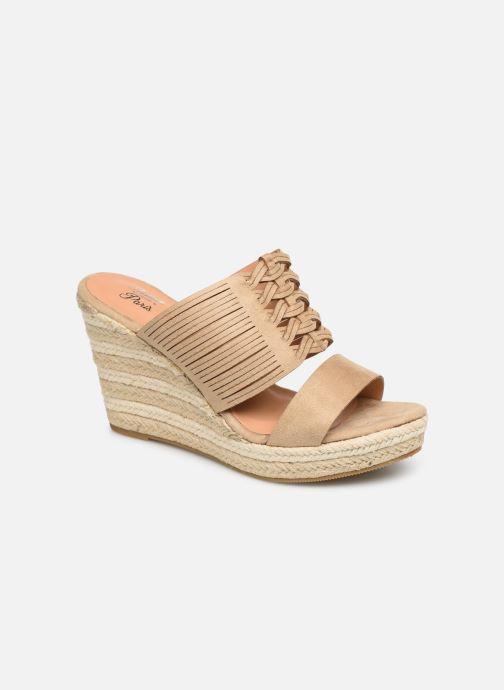 Sandales et nu-pieds Initiale Paris Tatanka Beige vue détail/paire