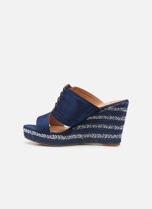 Sandals Initiale Paris Tatanka Blue front view