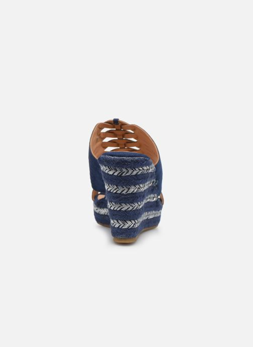 Sandals Initiale Paris Tatanka Blue view from the right