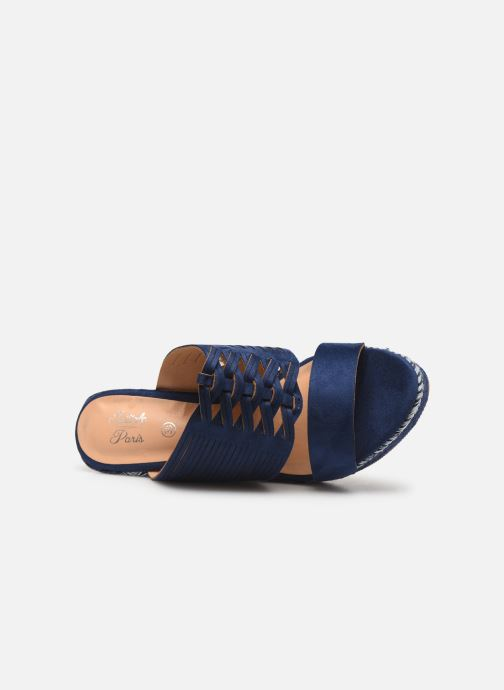 Sandals Initiale Paris Tatanka Blue view from the left