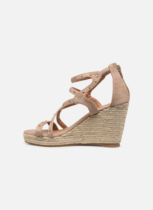 Sandalias Initiale Paris Tom Beige vista de frente