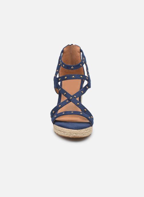 Sandales et nu-pieds Initiale Paris Tom Bleu vue portées chaussures
