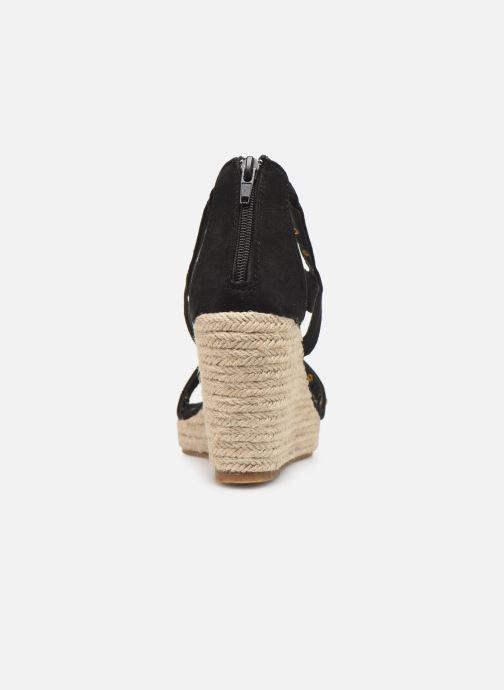 Sandales et nu-pieds Initiale Paris Tom Noir vue droite