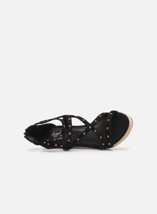 Sandales et nu-pieds Initiale Paris Tom Noir vue gauche