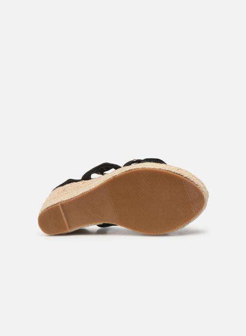 Sandales et nu-pieds Initiale Paris Tom Noir vue haut