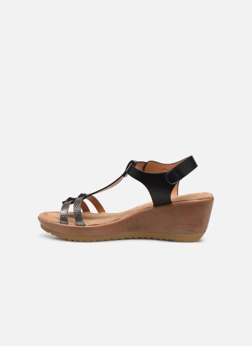 Sandalen Initiale Paris Tya Zwart voorkant