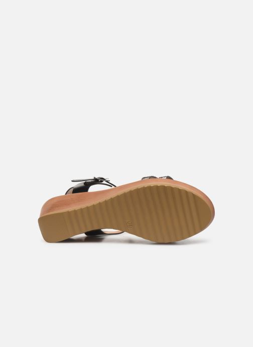 Sandalen Initiale Paris Tya Zwart boven