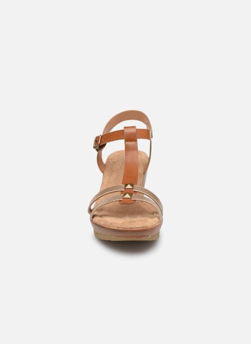 Sandales et nu-pieds Initiale Paris Tya Marron vue portées chaussures