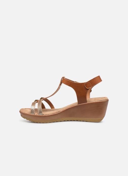 Sandales et nu-pieds Initiale Paris Tya Marron vue face