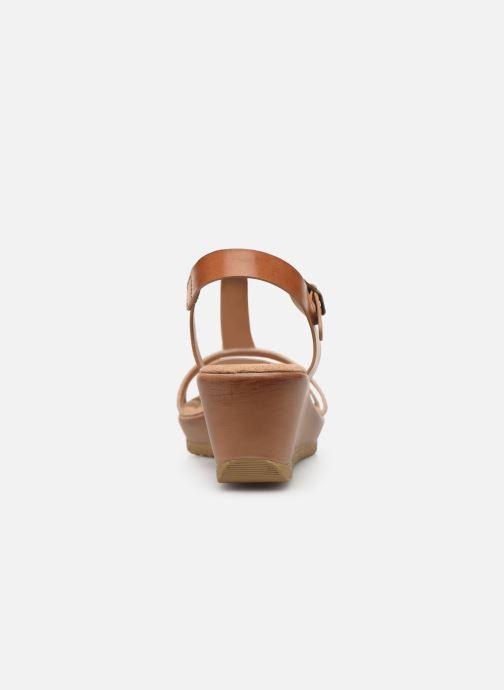 Sandales et nu-pieds Initiale Paris Tya Marron vue droite