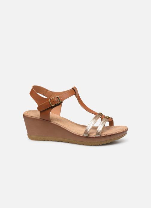 Sandales et nu-pieds Initiale Paris Tya Marron vue derrière
