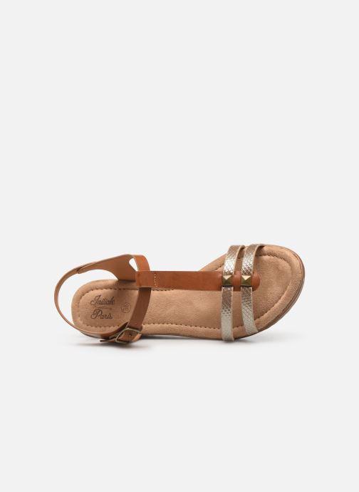 Sandales et nu-pieds Initiale Paris Tya Marron vue gauche