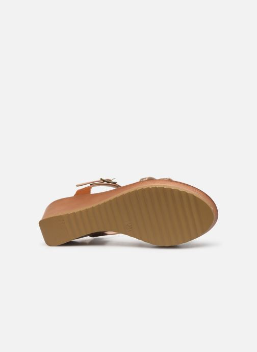 Sandales et nu-pieds Initiale Paris Tya Marron vue haut