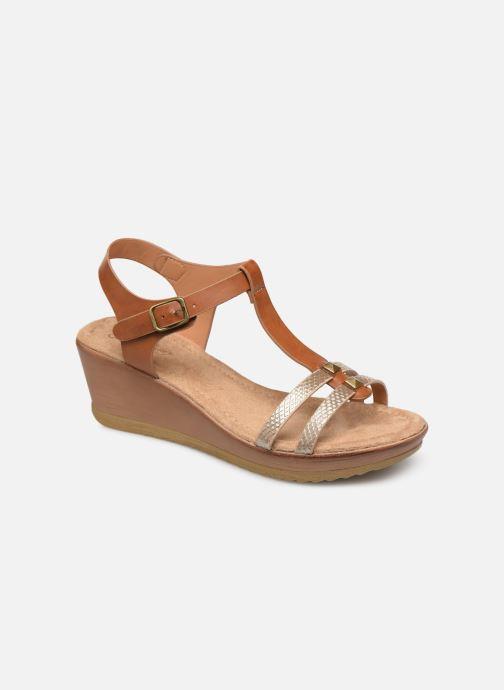Sandales et nu-pieds Initiale Paris Tya Marron vue détail/paire
