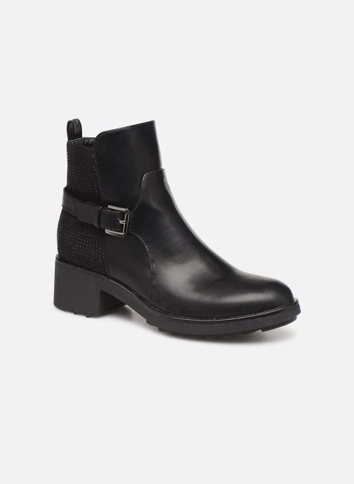 Ankelstøvler Initiale Paris Revee Sort detaljeret billede af skoene
