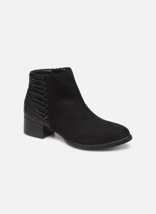 Ankelstøvler Initiale Paris Salaka Sort detaljeret billede af skoene