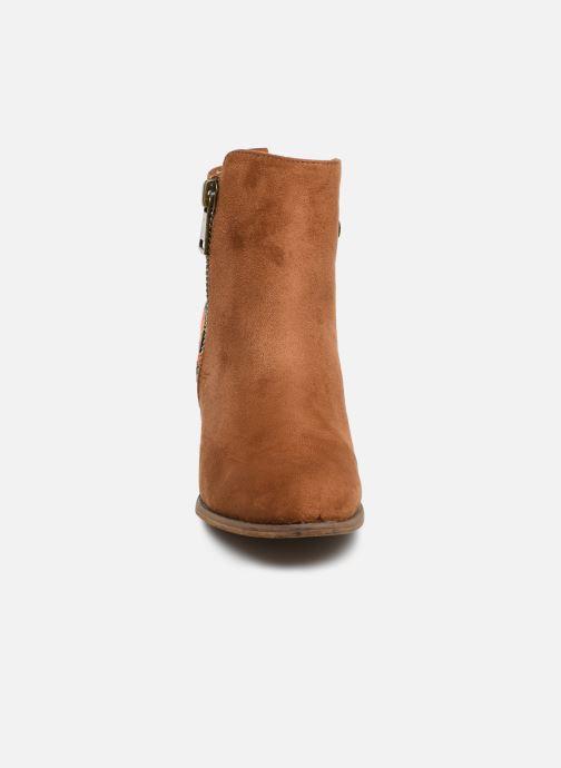 Ankle boots Initiale Paris Salto Brown model view