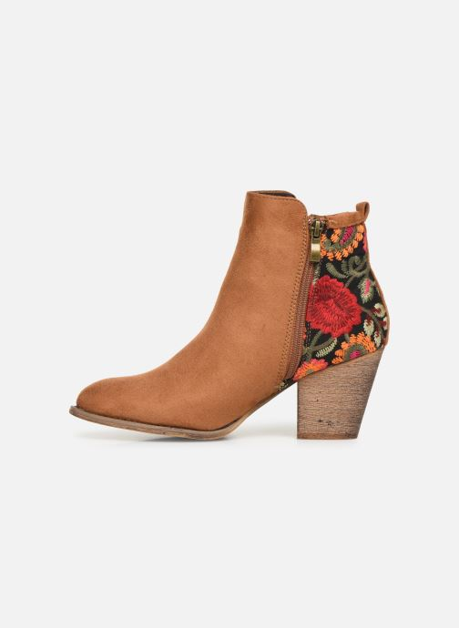 Ankle boots Initiale Paris Salto Brown front view