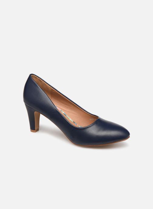 Høje hæle Initiale Paris Scherine Blå detaljeret billede af skoene