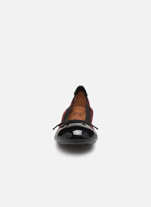 Ballerines Initiale Paris Shijeki Bordeaux vue portées chaussures