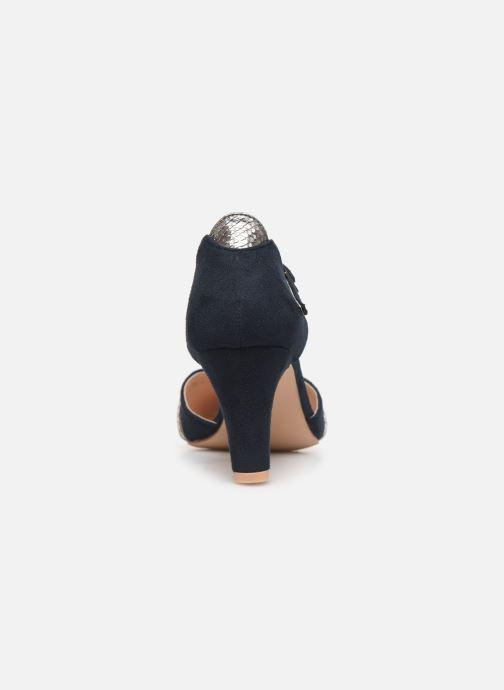 Zapatos de tacón Initiale Paris Tiaga Azul vista lateral derecha
