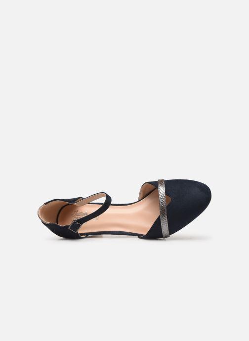 Zapatos de tacón Initiale Paris Tiaga Azul vista lateral izquierda