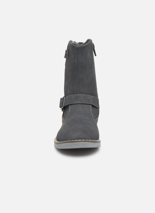 Bottes LICO Monroe Gris vue portées chaussures