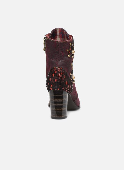 Ankle boots Laura Vita ELCEAO 03 Burgundy view from the right