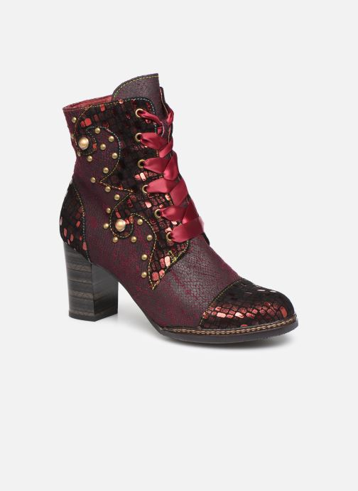 Ankle boots Laura Vita ELCEAO 03 Burgundy detailed view/ Pair view
