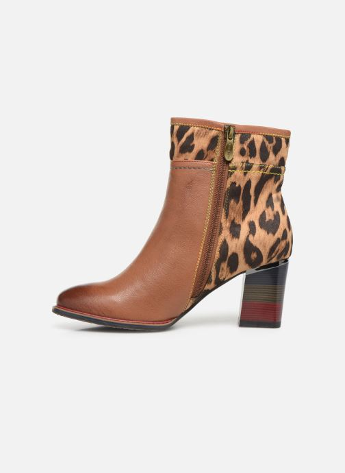 Ankle boots Laura Vita GECEKO 01 Brown front view