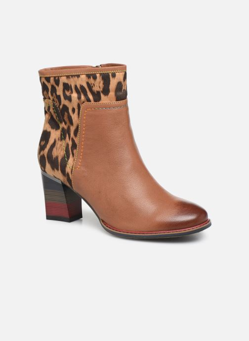 Ankle boots Laura Vita GECEKO 01 Brown detailed view/ Pair view