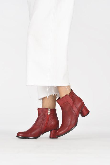 Bottines et boots Laura Vita GICNO 32 Rouge vue bas / vue portée sac