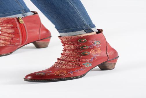 Bottines et boots Laura Vita ALCIZEEO 04 Rouge vue bas / vue portée sac