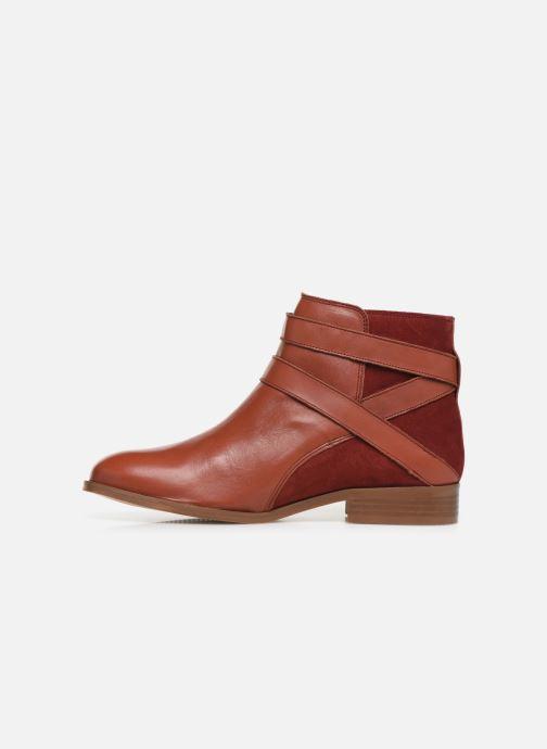 Bottines et boots Georgia Rose Catila Rouge vue face