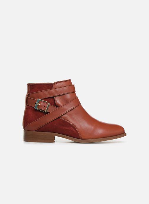 Bottines et boots Georgia Rose Catila Rouge vue derrière