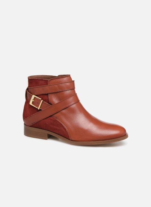 Bottines et boots Georgia Rose Catila Rouge vue détail/paire