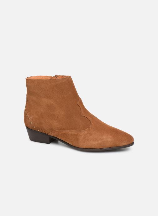 Ankelstøvler Georgia Rose Cloutilo Brun detaljeret billede af skoene