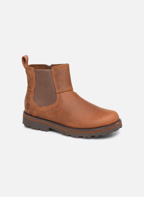 Ankle boots Timberland Courma Kid Chelsea Brown detailed view/ Pair view