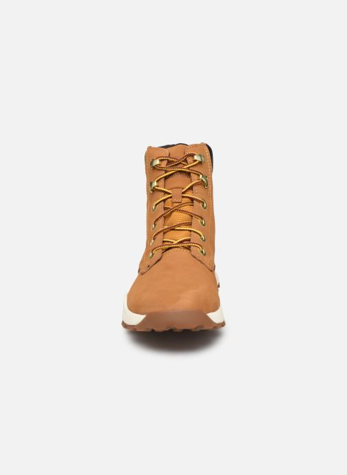 Bottines et boots Timberland Brooklyn Sneaker Boot Marron vue portées chaussures