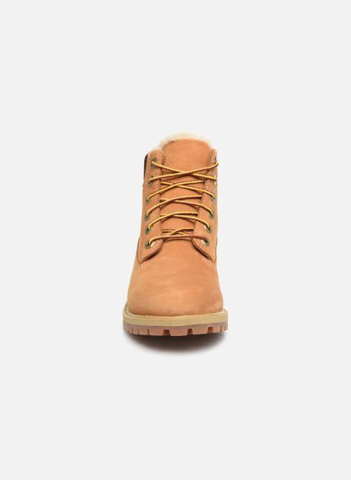 Bottines et boots Timberland Premium 6e Waterproof Shearling Boot Marron vue portées chaussures