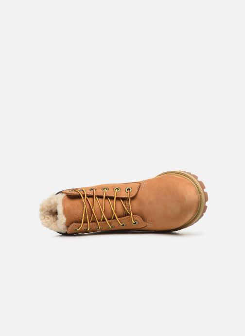 Stivaletti e tronchetti Timberland Premium 6e Waterproof Shearling Boot Marrone immagine sinistra