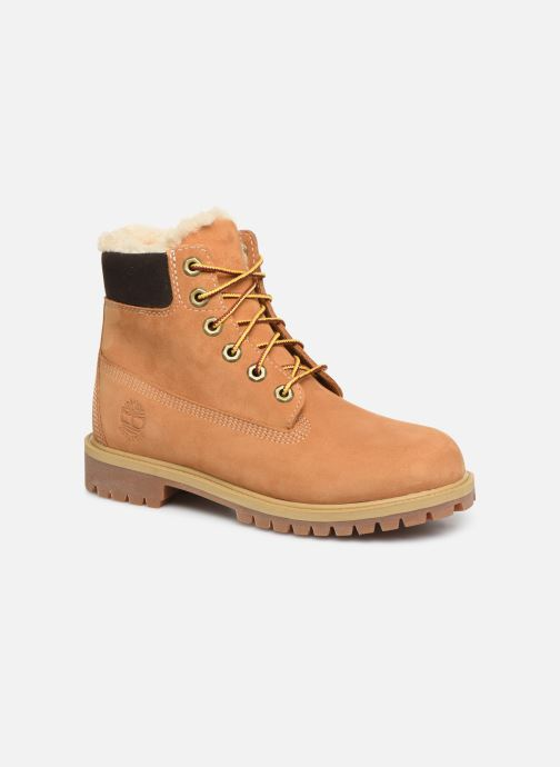 Bottines et boots Timberland Premium 6e Waterproof Shearling Boot Marron vue détail/paire