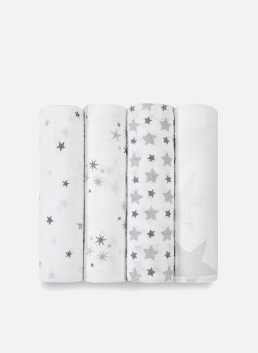Vêtements aden + anais Maxi-langes 120x120 - pack de 4 Blanc vue portées chaussures