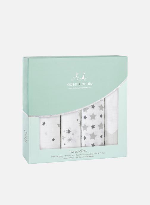 Divers aden + anais Maxi-langes 120x120 - pack de 4 Blanc vue détail/paire