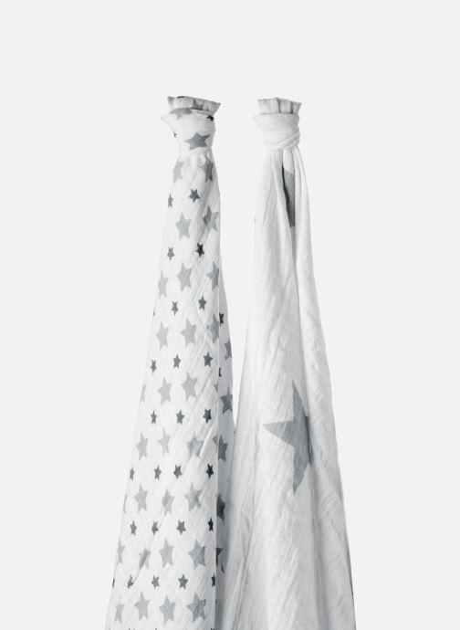 Divers aden + anais Maxi-langes 120x120 - pack de 2 Blanc vue face