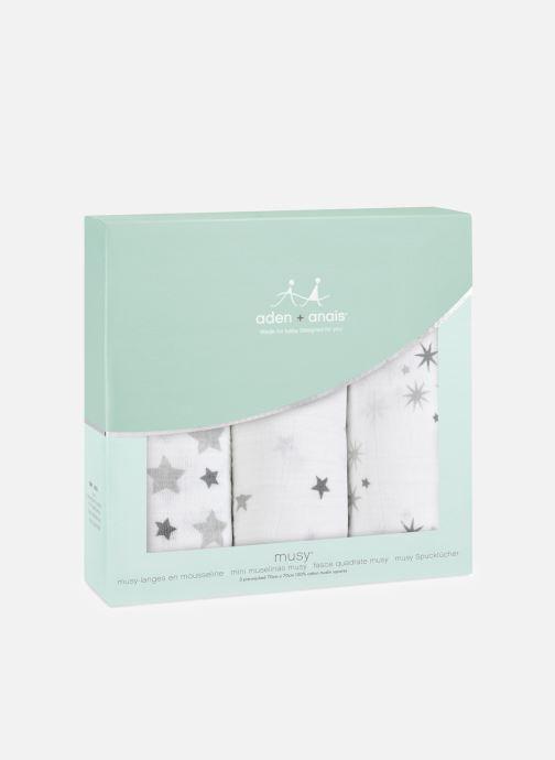 Vêtements aden + anais Musy-langes 70x70 - pack de 3 Blanc vue détail/paire