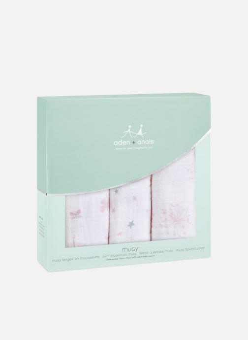 Vêtements aden + anais Musy-langes 70x70 - pack de 3 Rose vue détail/paire