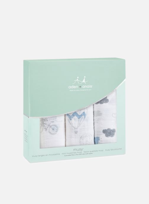 Vêtements aden + anais Musy-langes 70x70 - pack de 3 Bleu vue détail/paire