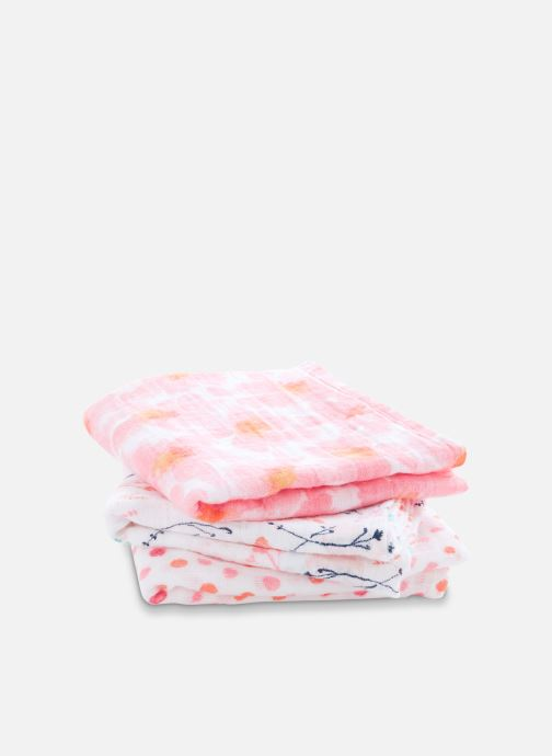 Vêtements aden + anais Musy-langes 70x70 - pack de 3 Rose vue portées chaussures