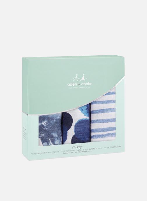 Divers aden + anais Musy-langes 70x70 - pack de 3 Blauw detail